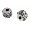 Metal Tube Bead 5X7mm Antique Silver